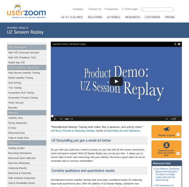 User Zoom mouse recording